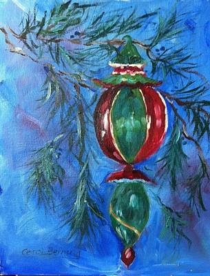 Art Print featuring the painting Deck The Halls by Carol Berning