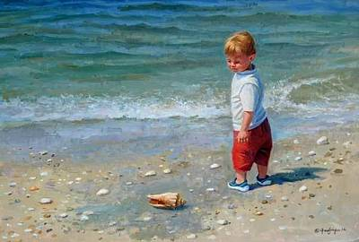Painting - Declan On The Beach by Mel Greifinger