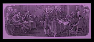 Declaration Of Independence In Pink Art Print by Rob Hans