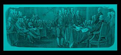Marvelous Marble - DECLARATION OF INDEPENDENCE in TURQUOIS by Rob Hans