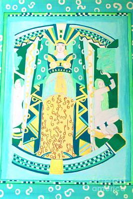 Deco Green Art Print by Beth Saffer