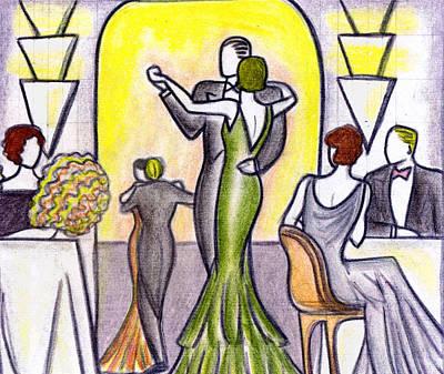 Evening Scenes Drawing - Deco Nightclub by Mel Thompson