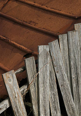 Rusty Tin Roof Photograph - Deconstruction by Odd Jeppesen