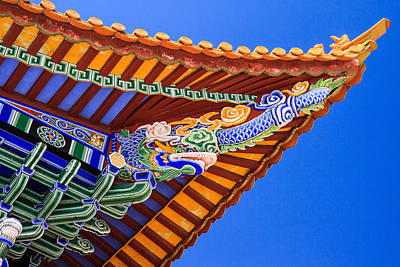 Y120831 Photograph - Decorated Eaves, Chongsheng Temple by Feng Wei Photography