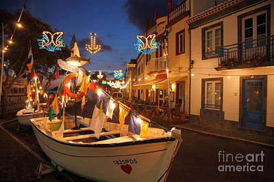 Decorated Fishing Boats Art Print by Gaspar Avila