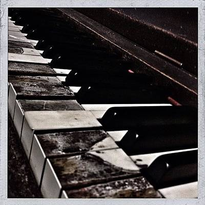 Piano Wall Art - Photograph - Decrepit Upright Piano In The Modish by Christopher Hughes