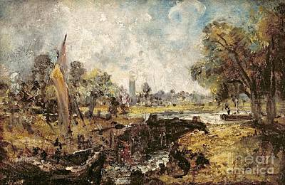 Lock Painting - Dedham Lock by John Constable