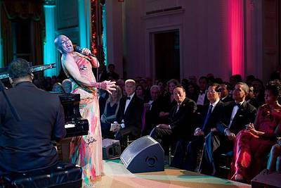 Dee Dee Bridgewater Performs Art Print by Everett