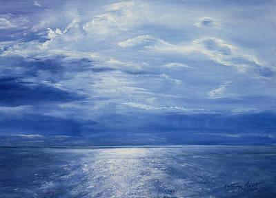 Moonlight Painting - Deep Blue Sea by Antonia Myatt