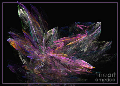 Digital Art - Deep Crystallization by Sipo Liimatainen