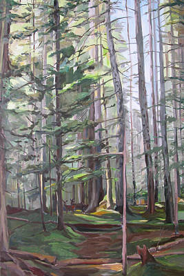 Painting - Deep Forest by Synnove Pettersen