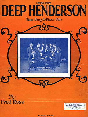 Old Sheet Music Photograph - Deep Hemderson by Mel Thompson