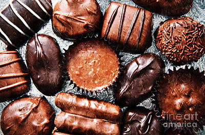 Photograph - Deep Rich Chocolates by Andee Design