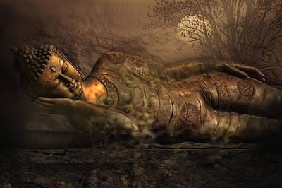 Sleeping Buddha Photograph - Deep Silence by Joachim G Pinkawa