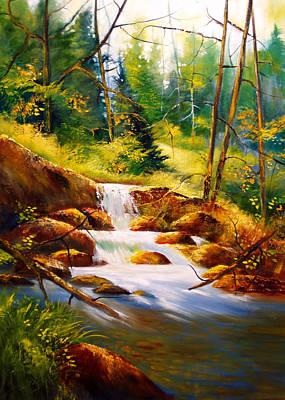 Deep Woods Beauty Art Print by Robert Carver