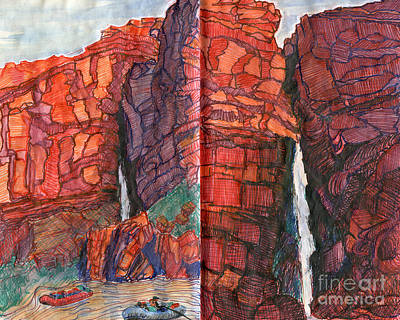 Grand Canyon Drawing - Deer Creek by Scott Barnes
