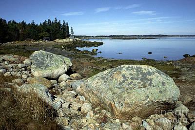Deer Isle Granite Shoreline Art Print by Thomas R Fletcher