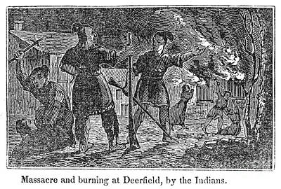 1704 Photograph - Deerfield Massacre, 1704 by Granger
