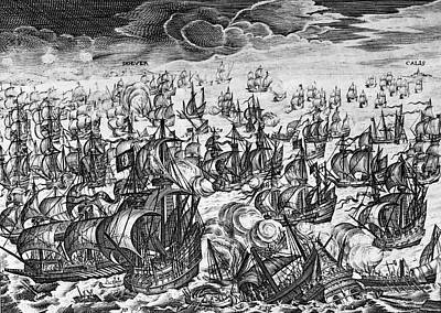 Defeat Of The Spanish Armada, 1588 Art Print