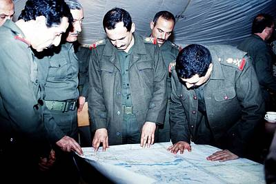 Defeated Iraqi Officers Reveal Art Print by Everett