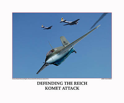 Defending The Reich Komet Attack Original by Jerry Taliaferro