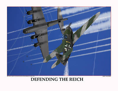 Defending The Reich Messerschmitt Original by Jerry Taliaferro