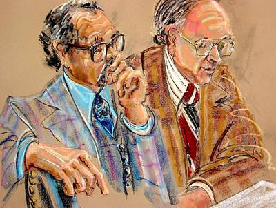 Painting - Defense Lawyers by Les Leffingwell