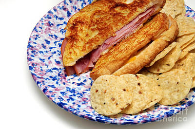 Tortillas Photograph - Deli Ham And Cheese With Chips by Andee Design