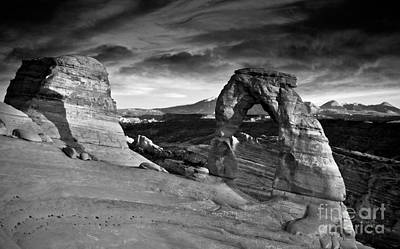 Photograph - Delicate Arch Bw by Larry Carr