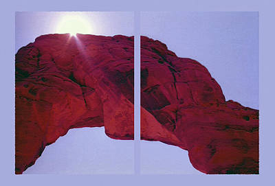 Delicate Arch Diptych Print by Steve Ohlsen