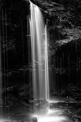 Photograph - Delicate Plunge Waterfall Pillar by John Stephens