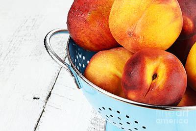 Delicious Peaches Art Print by Stephanie Frey