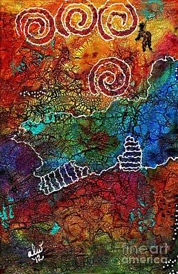 Mixed Media - Delight In The Journey by Angela L Walker