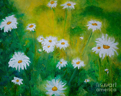 Original featuring the painting Delightful Daisies by Claire Bull
