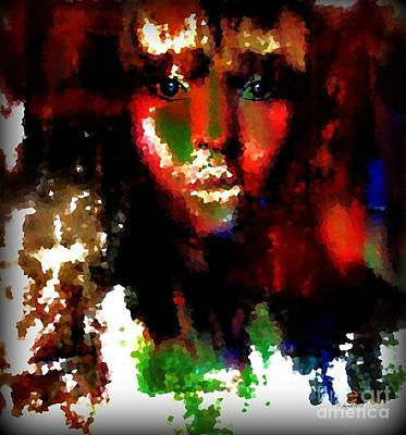 Biblical Interpretation Mixed Media - Delilah And The Secret by Fania Simon