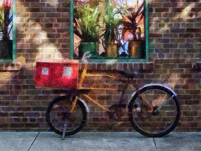 Photograph - Delivery Bicycle Greenwich Village by Susan Savad