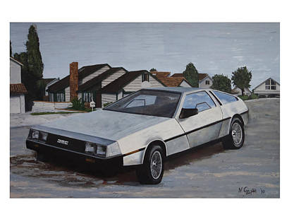 Delorean Art Print by Nate Geare