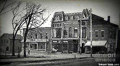 Painting - Delphus Theatre And Masonic Temple In Marion In In 1910 by Dwight Goss