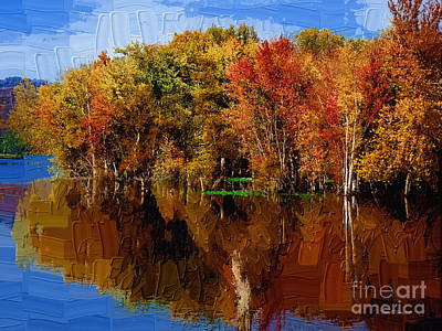 Diane Berry Painting - Delta Lake Reflections-painted by Diane E Berry