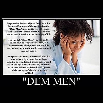 Dem Men Is Short For Dementia Art Print
