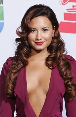 Demi Lovato Wearing A Roland Mouret Art Print