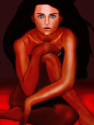 Demi Moore Digital Art - Demi Moore In Fire Or In Front Of The Fire by Mathieu Lalonde