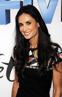 Demi Moore Wearing A Chanel Dress Art Print by Everett