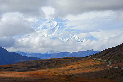 Photograph - Denali Highway To Heaven by Alan Lenk
