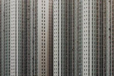 Hong Kong Photograph - Dense Windows Of High Rise Constructed Building by Yiu Yu Hoi