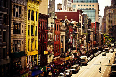 Lower East Side Photograph - Density - Above Chinatown - New York City by Vivienne Gucwa