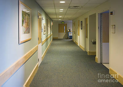 Ceiling Tiles Photograph - Dental Facility Hallway by Andersen Ross