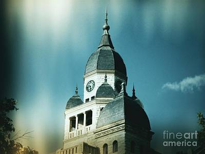 Denton County Courthouse Art Print by Angela Wright