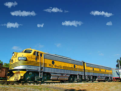 Colorado Railroad Museum Photograph - Denver And Rio Grande Western Funits A And B by Ken Smith