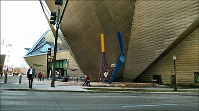 Photograph - Denver Art Museum - Exterior 2010 by Glenn Bautista